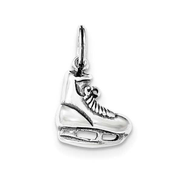 Sterling Silver Polished Ice Skate Charm