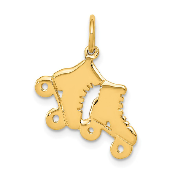 14k Yellow Gold Roller Skates Charm