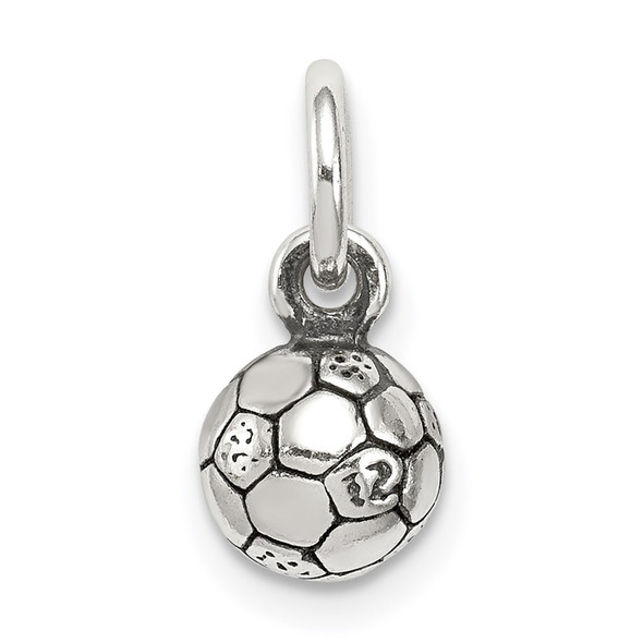 Sterling Silver Antiqued Soccer Ball Charm QC6480
