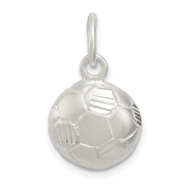Sterling Silver Diamond-Cut Soccer Ball Charm