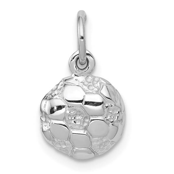 14K White Gold Soccer Ball Charm