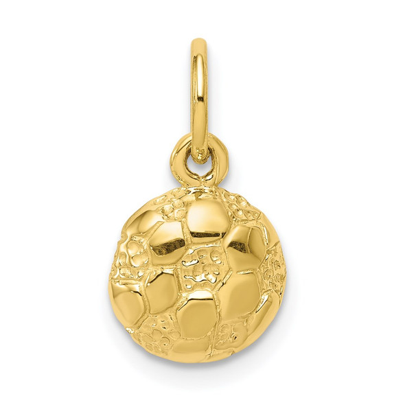 10k Yellow Gold Soccer Charm