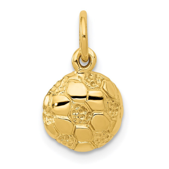 14k Yellow Gold Soccer Ball Charm C587