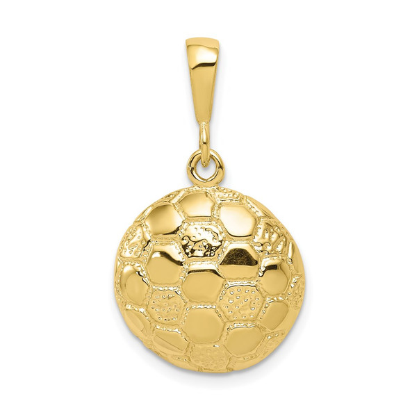 10k Yellow Gold Soccer Ball Charm