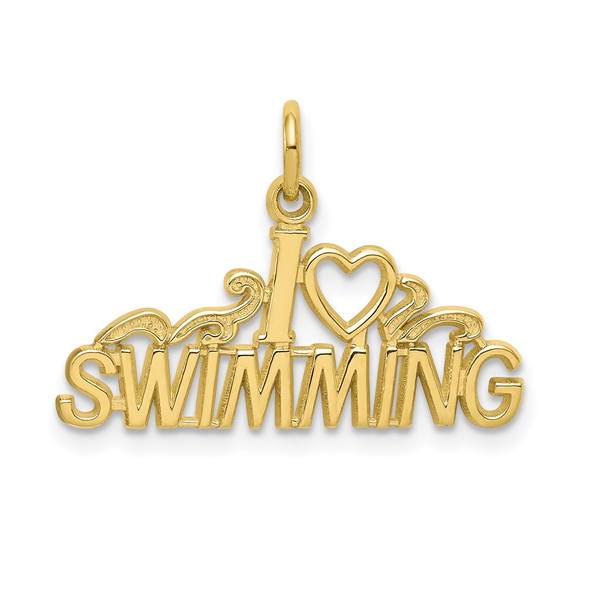 10k Yellow Gold Swimming Charm