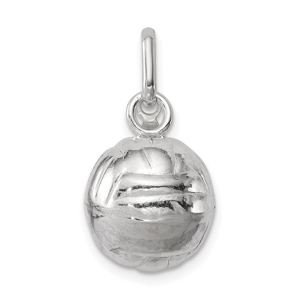 Sterling Silver Volleyball Charm QC707
