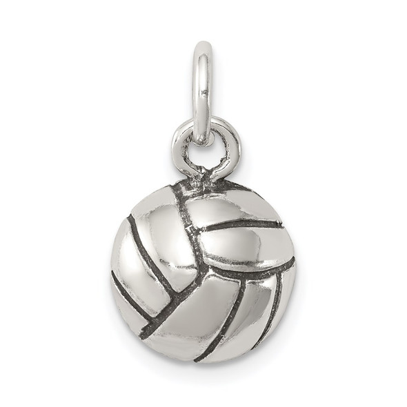 Sterling Silver Antiqued Volleyball Charm