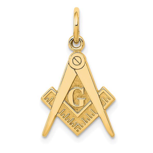 14k Yellow Gold Masonic Charm