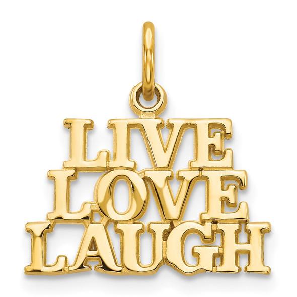 14k Yellow Gold Talking - Live Love Laugh Charm