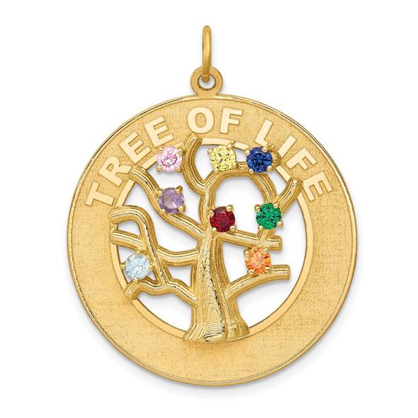 14k Yellow Gold Tree Of Life Charm