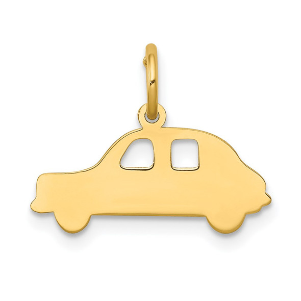 14k Yellow Gold Compact Car Charm