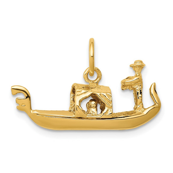 14k Yellow Gold 3D Gondola Charm