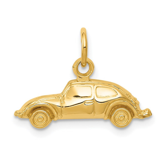14k Yellow Gold Car Charm