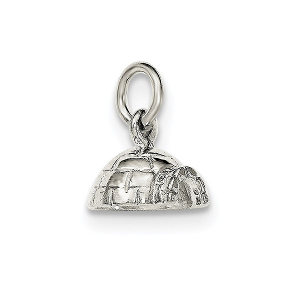 Sterling Silver Polished Igloo Charm