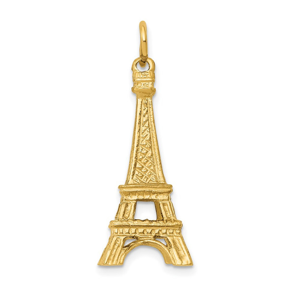 14k Yellow Gold 3D Eiffel Tower Charm A1175