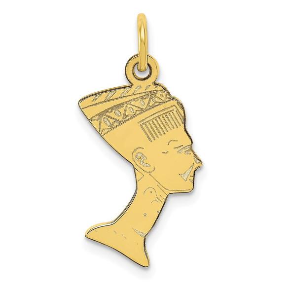 10k Yellow Gold Nefertiti Charm 10C370