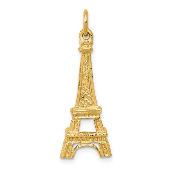 14k Yellow Gold Eiffel Tower Charm A0383