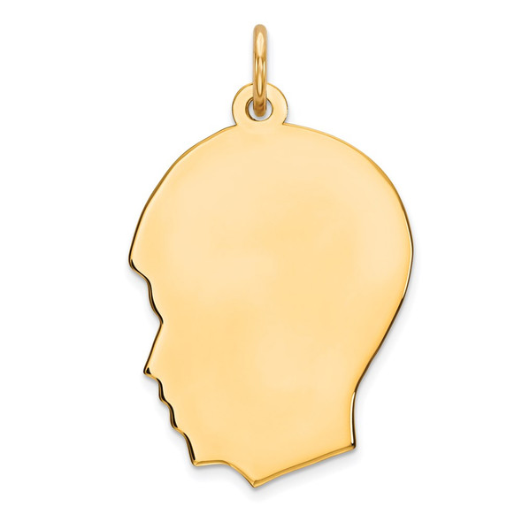 Gold-Plated Sterling Silver Engravable Boy Polished Disc Charm QM360G/27