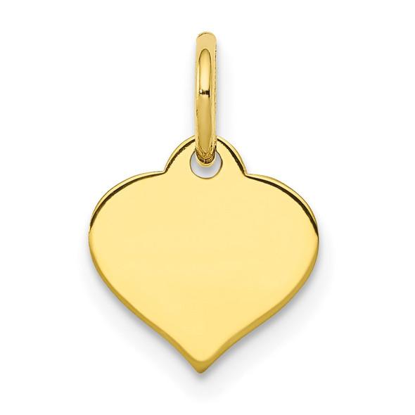 10k Yellow Gold .013 Gauge Heart Disc Charm 10XM525/13
