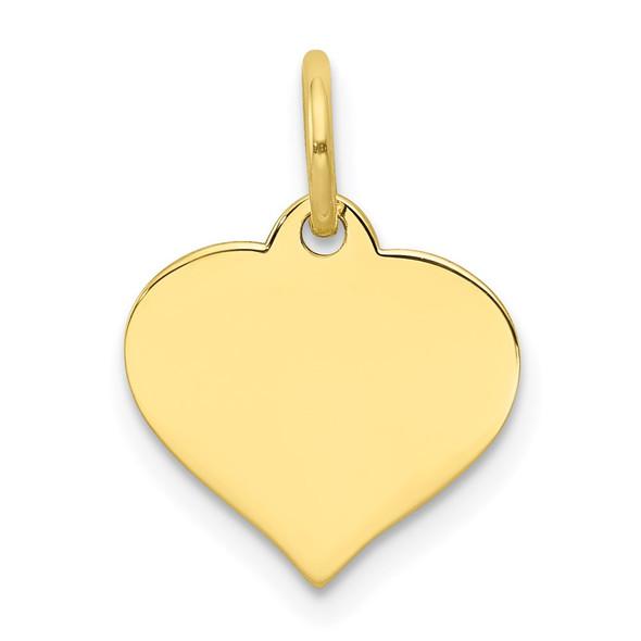 10k Yellow Gold .013 Gauge Heart Disc Charm 10XM526/13