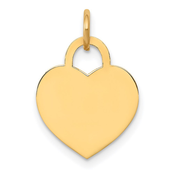 14k Yellow Gold Small Engravable Heart Charm XM521/13