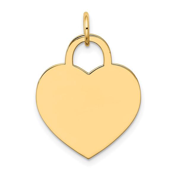 14k Yellow Gold Large Engravable Heart Charm XM523/11