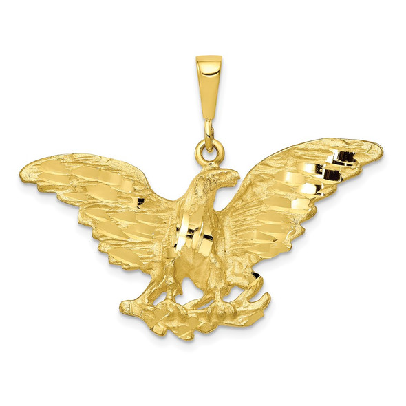10k Yellow Gold Eagle Pendant 10C613