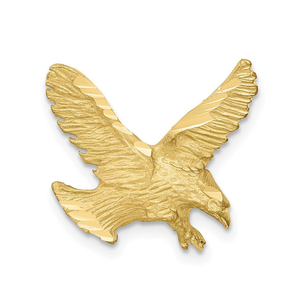 10k Yellow Gold Solid Diamond-cut Eagle Pendant 10C627