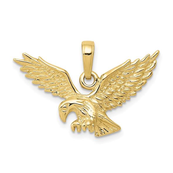 10k Yellow Gold 3-D Eagle Pendant