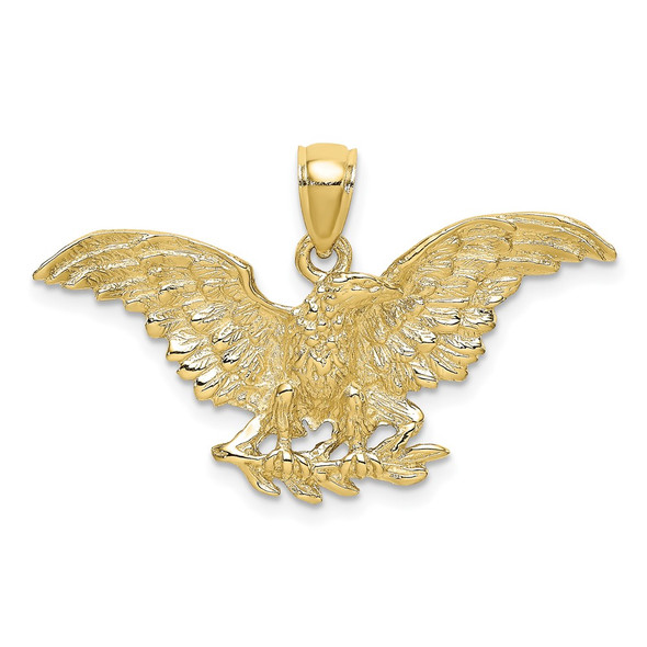 10k Yellow Gold Eagle w/Wings Spread Pendant