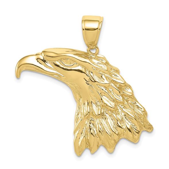 10k Yellow Gold Eagle Head Pendant