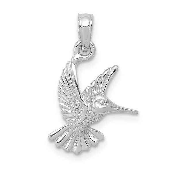 10k White Gold Hummingbird Pendant