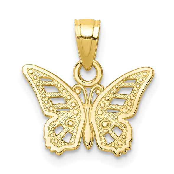 10k Yellow Gold Butterfly Pendant 10C1004
