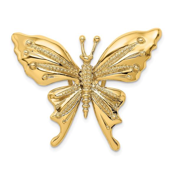 14k Yellow Gold Butterfly Slide