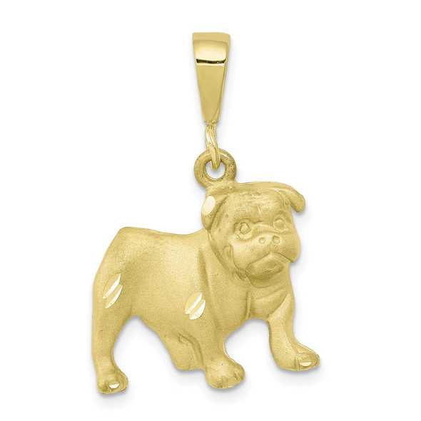 10k Yellow Gold Dog Pendant