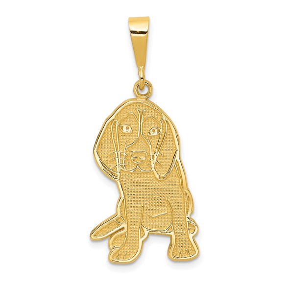 14k Yellow Gold Beagle Pendant