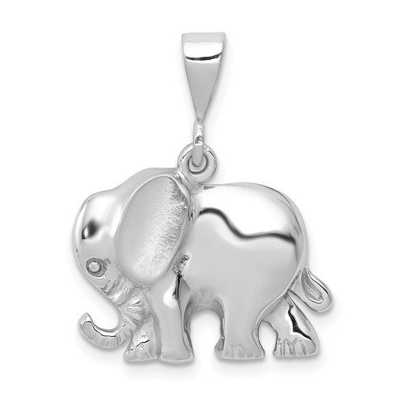 14k White Gold Elephant Pendant WCH100