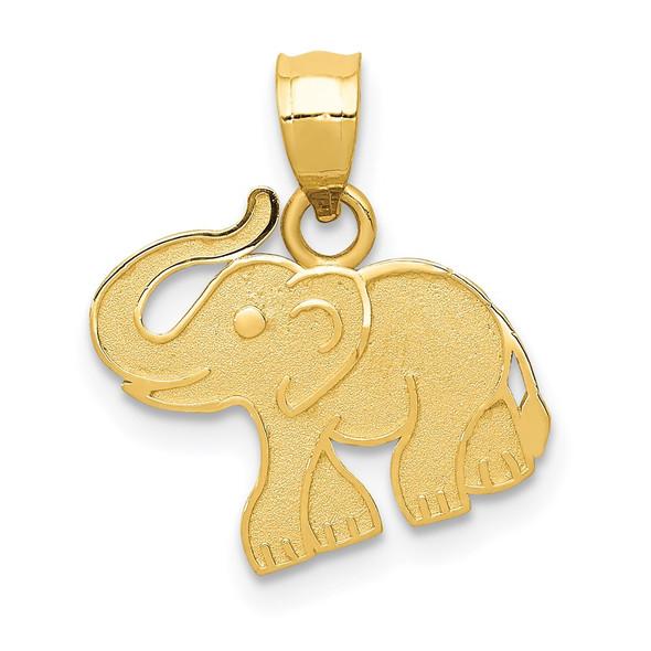 14k Yellow Gold Elephant Pendant D3346