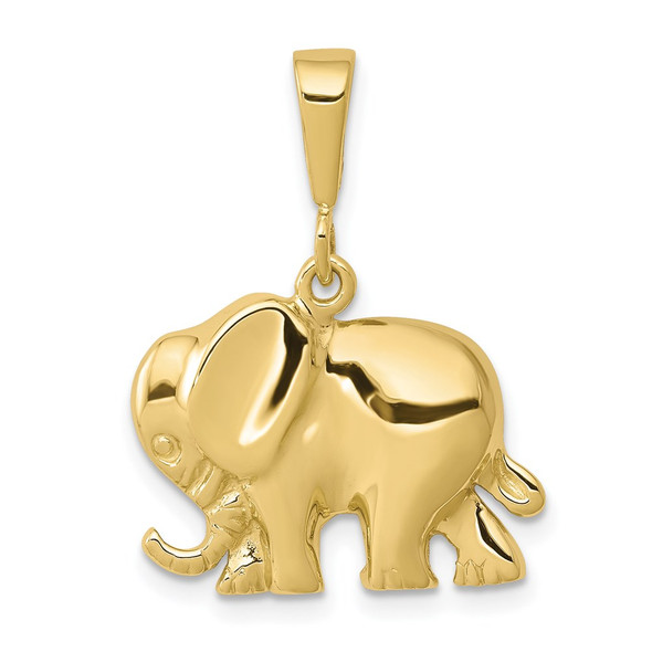 10k Yellow Gold Elephant Pendant