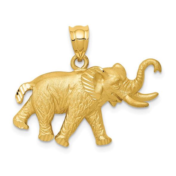 14k Yellow Gold Elephant Pendant C110