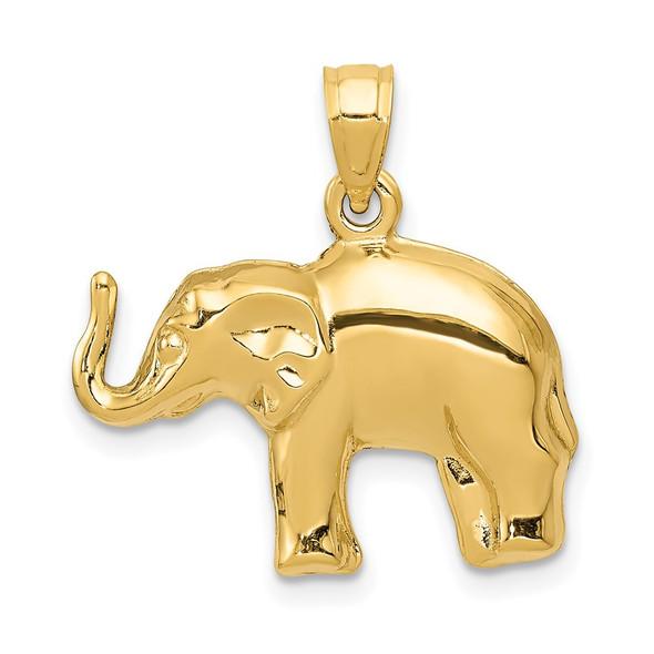 14k Yellow Gold Elephant Pendant C3534