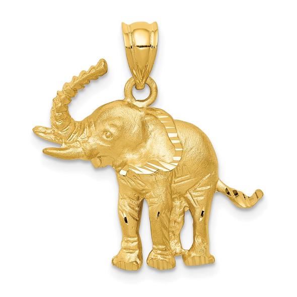 14k Yellow Gold Elephant Pendant C112