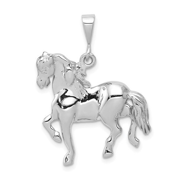 14k White Gold Horse Pendant WCH88