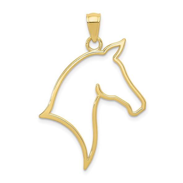 10k Yellow Gold Horse Head Pendant
