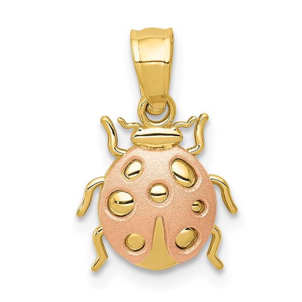 14k Yellow and Rose Gold Ladybug Pendant