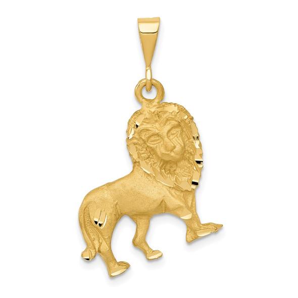 14k Yellow Gold Lion Pendant C1153