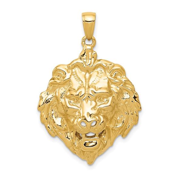 14k Yellow Gold Lion Pendant K4868