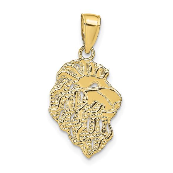 10k Yellow Gold Lion Head Pendant