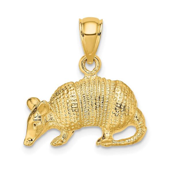14k Yellow Gold 3-D Armadillo Pendant