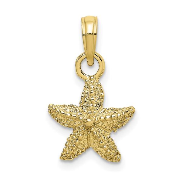 10k Yellow Gold Starfish Pendant 10k7861
